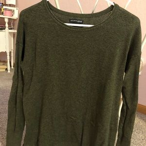 Army green American eagle sweater